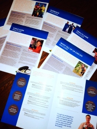 The seven setting-specific Food Charter mini-guides I developed during my summer internship at the Minnesota Department of Health